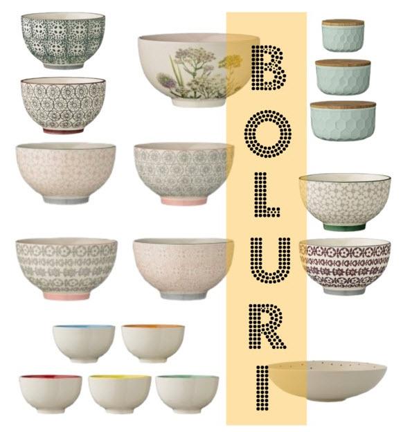 Boluri din ceramica cu model etnic Bloomingville