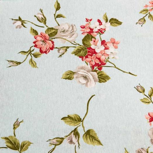 Material draperie Serta Blue culori bleu, roz, verde