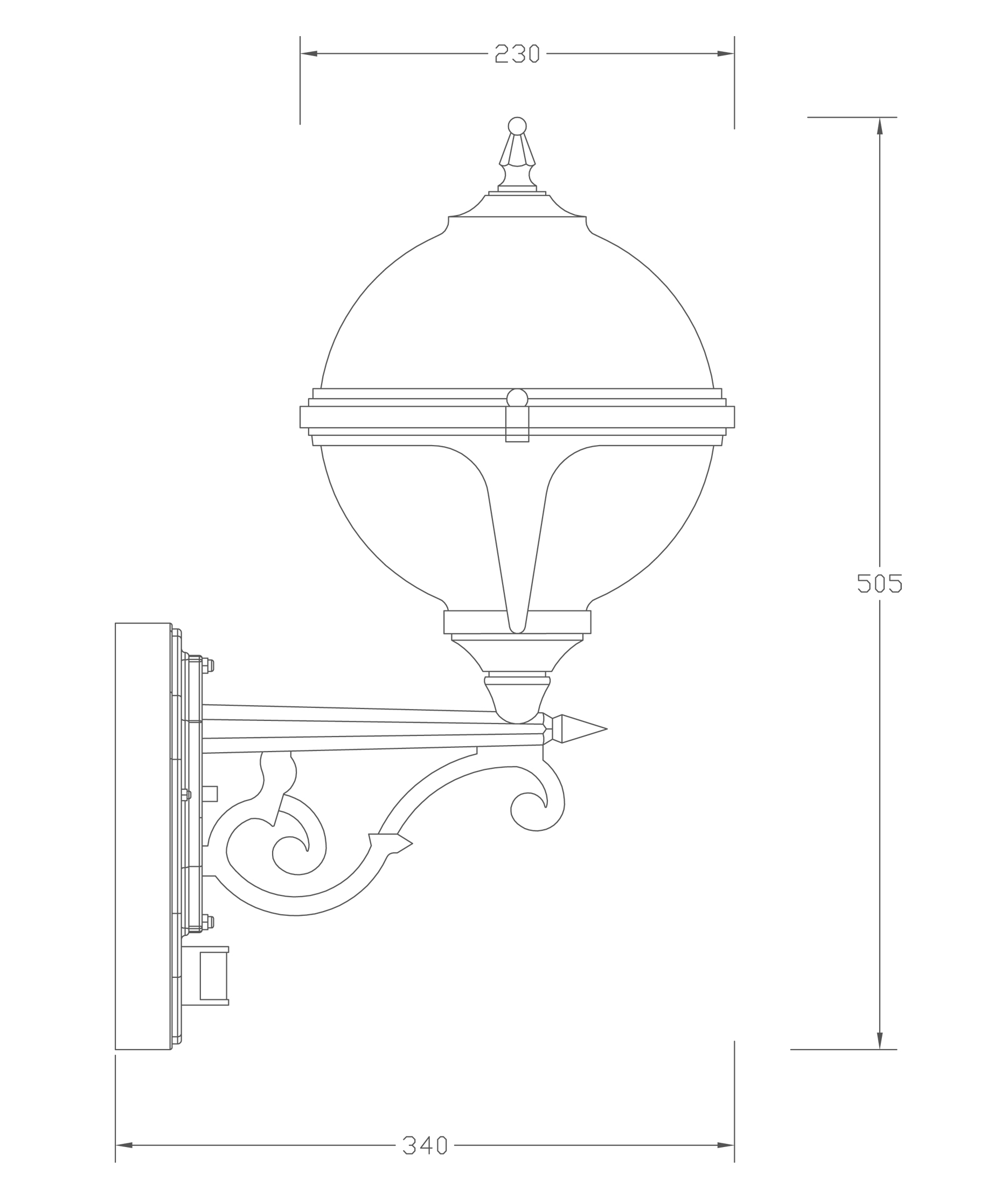 Wall Light With Pir Motion Sensor