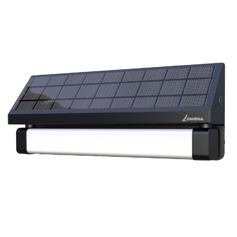 alerta motion sensor solar wall light with microwave sensor