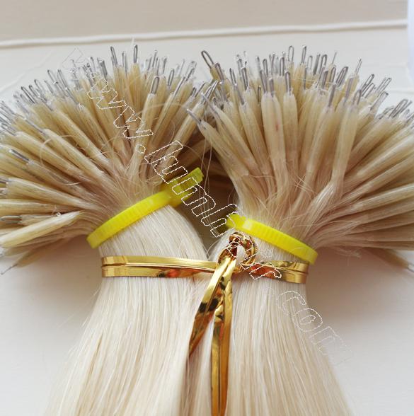 Wholesale Factory Nano Ring Hair Extensions Brown Lum Hair