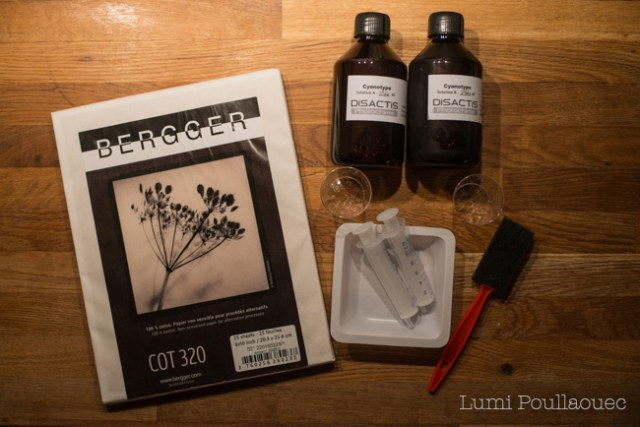 kit cyanotype feuilles photosensibles pipettes chimie