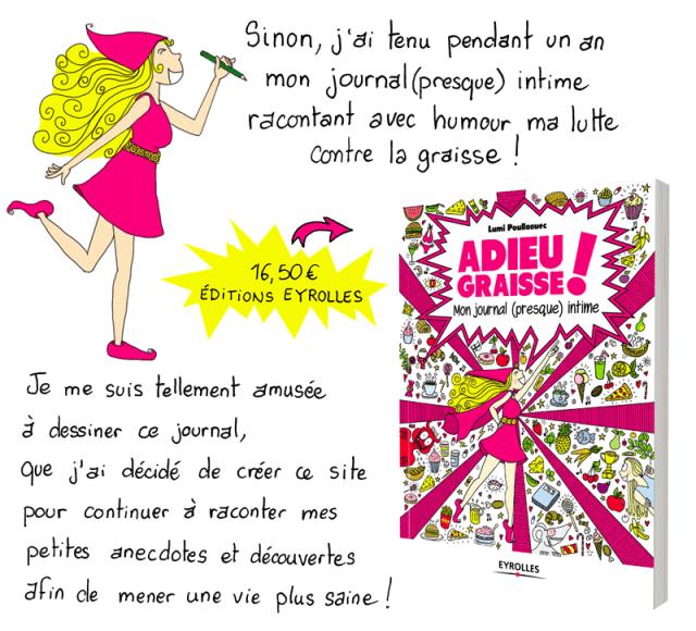 Lumi a écrit et illustré un roman graphique : Adieu Graisse ! Mon journal (presque) intime