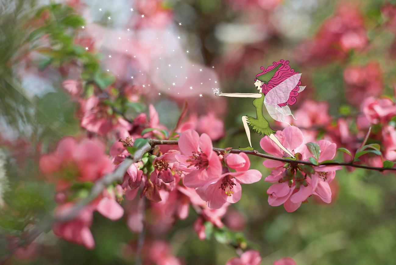 Sylphide de printemps - Lumi Poullaouec - Création - Photographie et illustration féérique