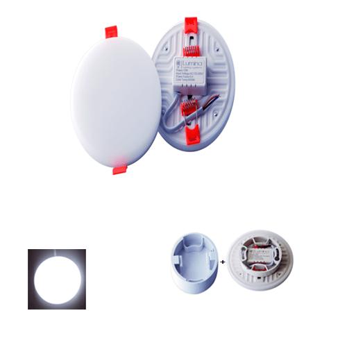 Spot LED Encastrable 3D Réglable 22W Rond cadre lumière blanche (6500K)