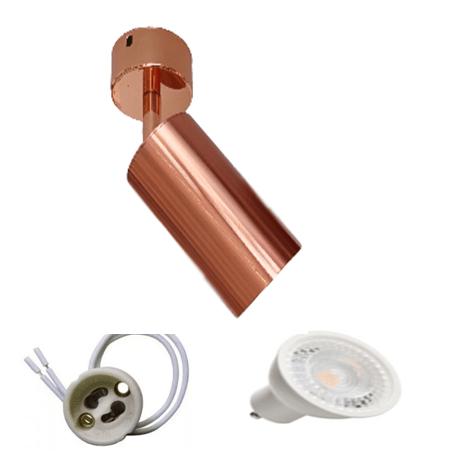 Spot Apparent GU10 Rose Gold Murale ou Plafonnier Lampe LED 5W