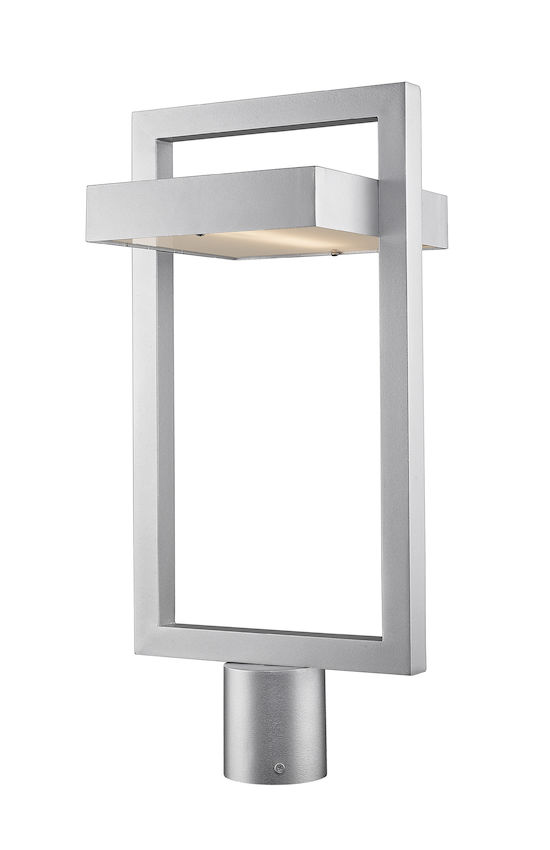 Tête De Poteau Extérieur Z-Lite Luttrel 566PHBR-SL-LED