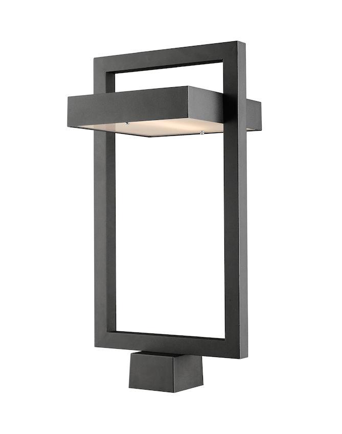 Tête De Poteau Extérieur Z-Lite Luttrel 566PHBS-BK-LED