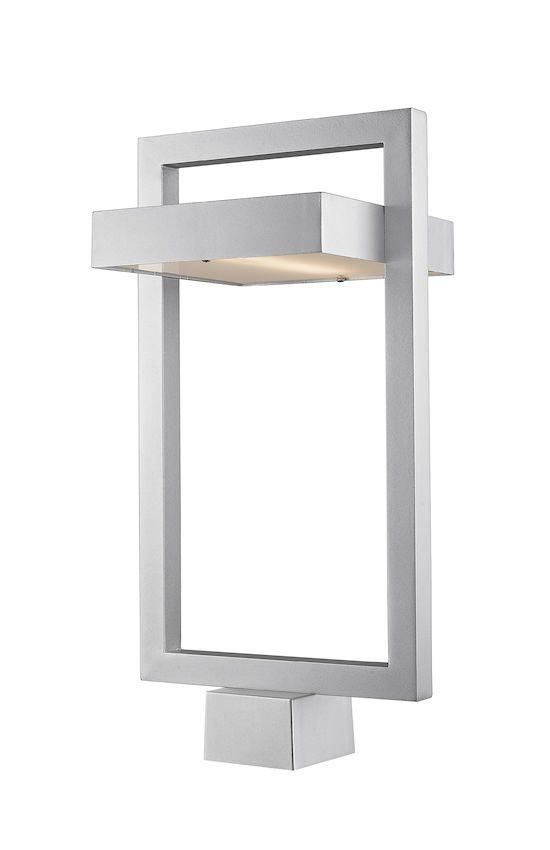 Tête De Poteau Extérieur Z-Lite Luttrel 566PHBS-SL-LED