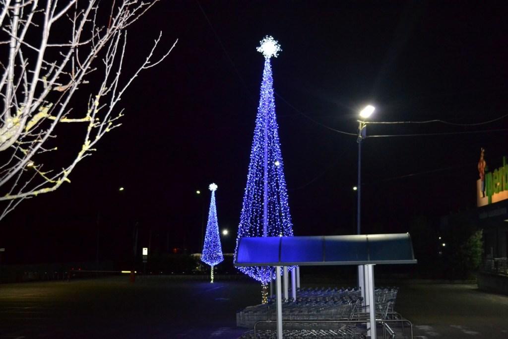 (Foto 15- 60) Albero stilizzato blu 9m