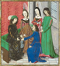 John of Gaunt receiving the keys of Bayonne