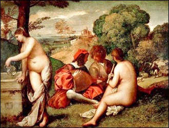 Giorgione (with Titian) Fete Champetre.