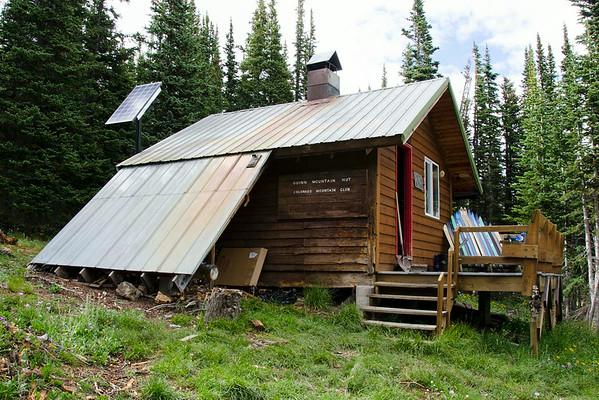 Solar panel at Guinn Mountain hut