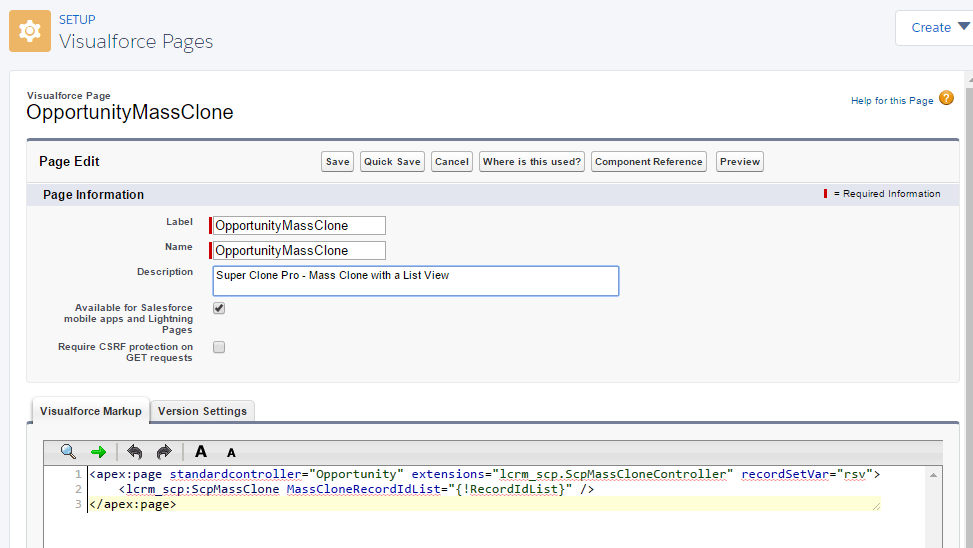 List View Mass Clone Setup - LuminosityCRM