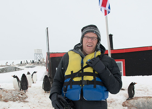 Kevin Raber in antarctica