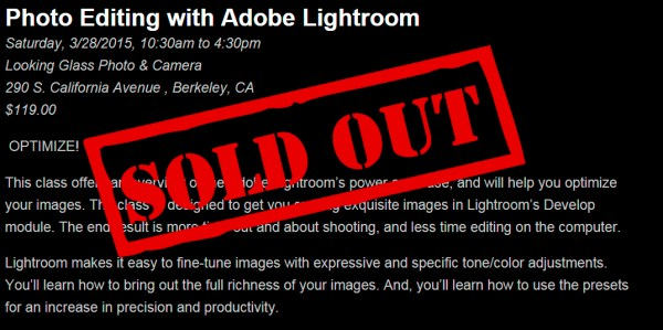 class sold out
