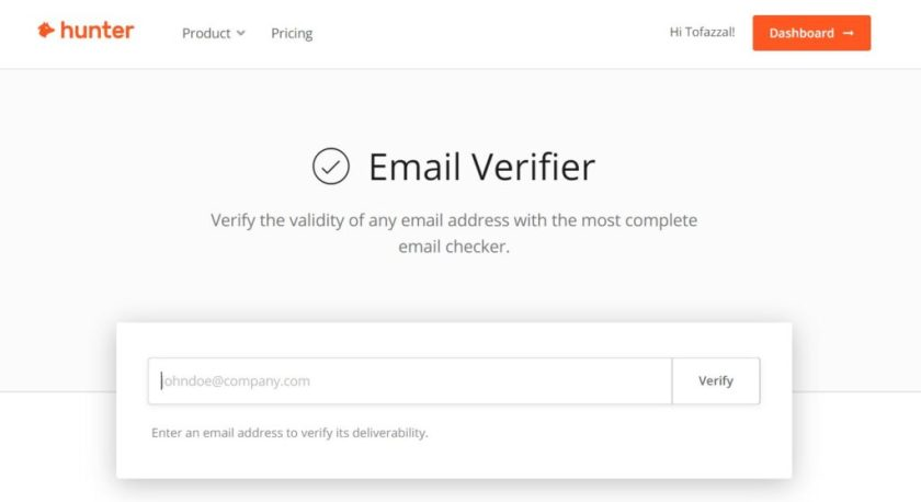 hunter.io, hunter, hunter review, email hunter, hunter pricing, best email checker, best free email checker, bulk email validation, email verification services, email checking, email spam checking, mx record, free email verification