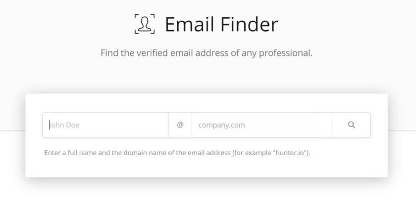 Hunter Email Finder, hunter.io, Hunter Email Finder tools, find email by name, hunter email verifier.