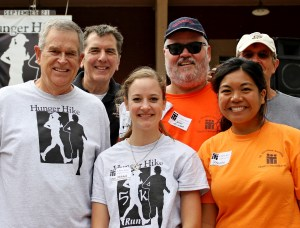Top Fundraisers - Rob Pahl, Fr. Patrick & John Ginda with Hunger Hike Heroes!