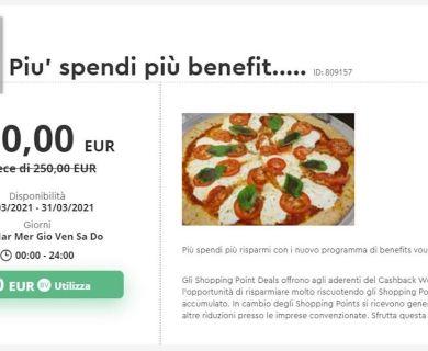 Ristorante Pizzeria a Parma con Voucher Benefit e Spendi Meno: per gli Aderenti Cashback World Promo sino al 31 marzo con gli Shopping Points