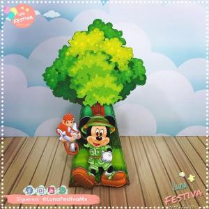 Dulcero Caja Piramide Mickey Safari