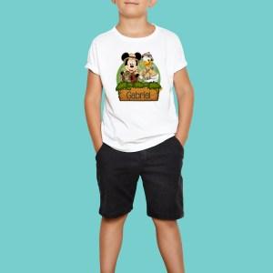 Playera cumpleaños Fiesta Mickey Safari