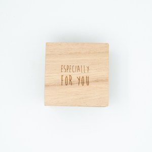 Especially for you cadeaudoos metaal met houten deksel