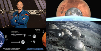 Gerst ISS, Moon, Mars
