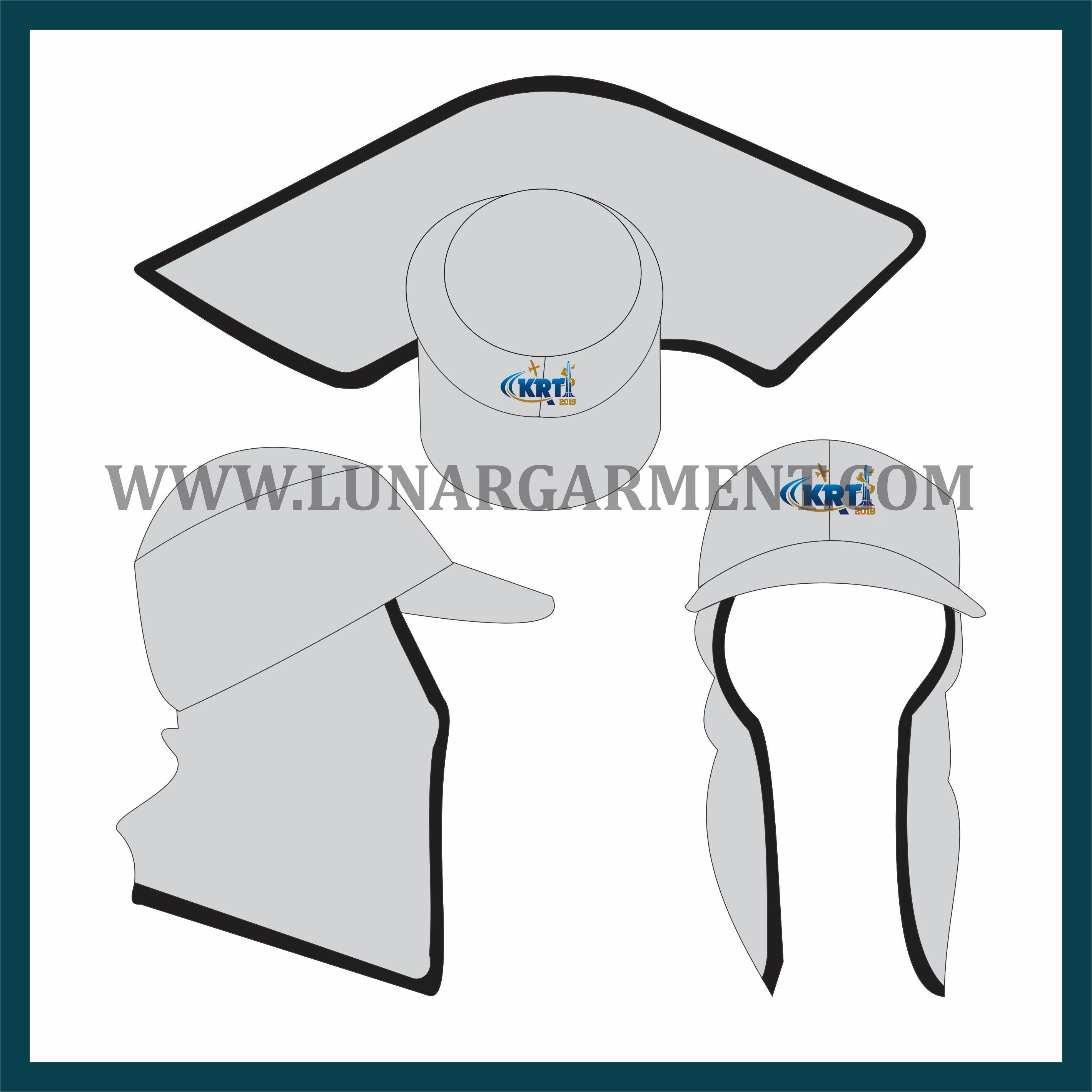 Hasil Produksi Dan Desain Topi Ninja KRTI Bahan Fleece Cotton
