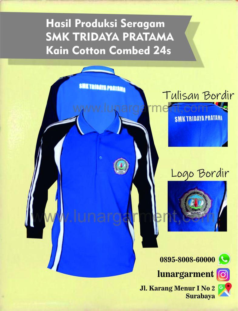 Hasil Produksi Seragam SMK Tridaya Pratama Kain Cotton Combed 24s