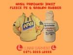 Hasil Produksi Jaket Fleece PE & Sablon Rubber