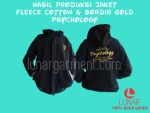 Hasil Produksi Jaket Fleece Cotton & Bordir Gold PSYCHOLOGY