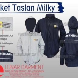 Hasil Produksi Jaket Taslan Mily+Fleece dari Asembagus PLN