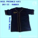 Hasil Produksi Kaos Baseball Wizard - Dryfit ft Rubber