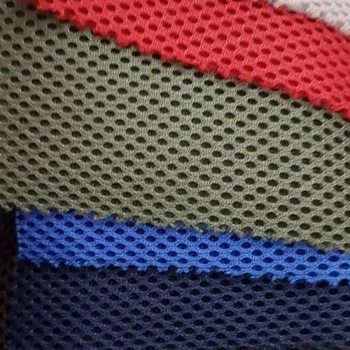 bahan rompi double mesh