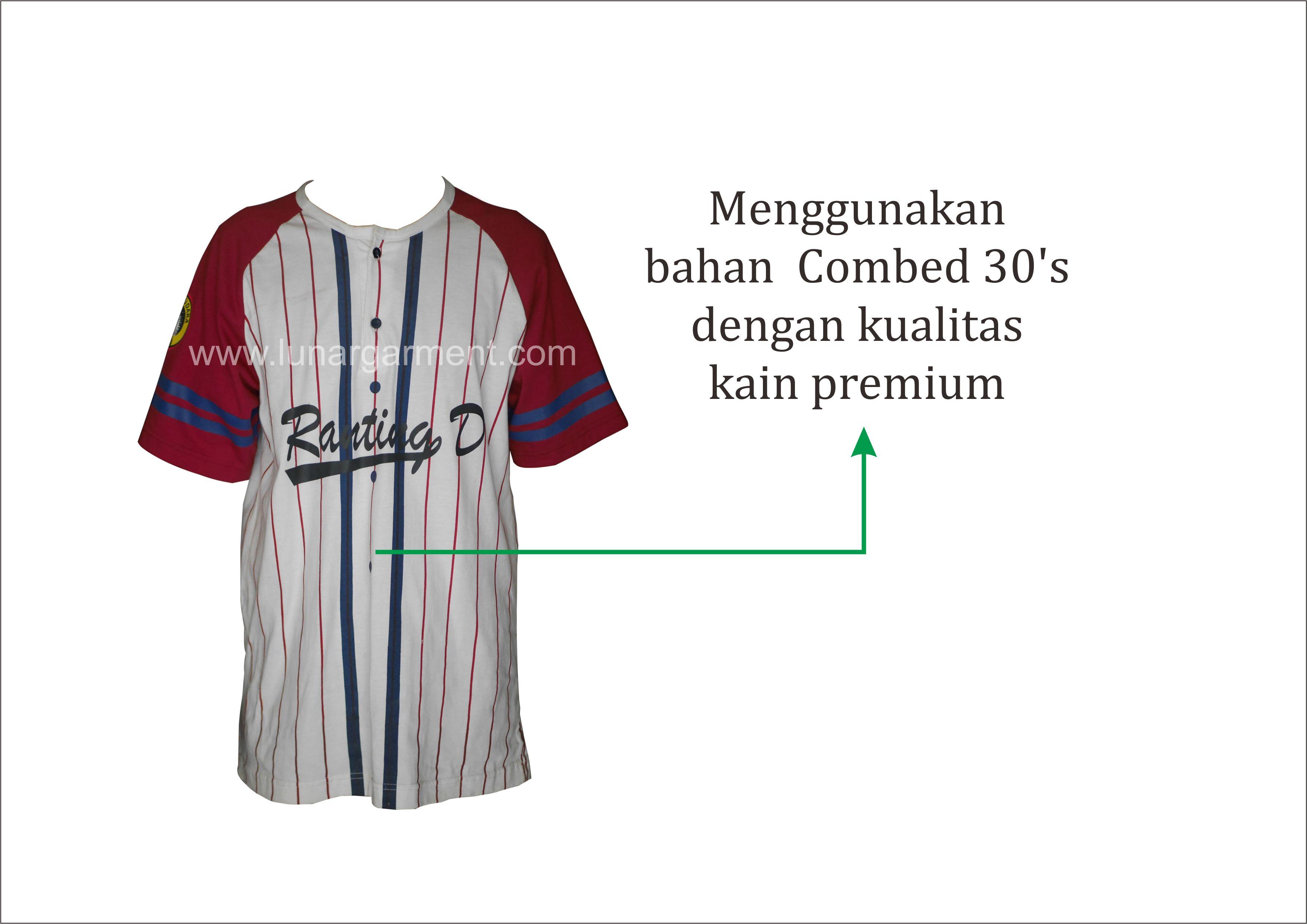Hasil Konveksi Kaos Baseball Custom