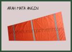 Hasil Produksi Dan Desain Arah Mata Angin ( windsock ) Taslan Bening