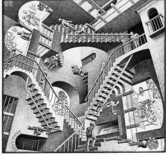 © M.C. Escher, Relativity, 1953