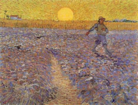© V.Van Gogh, Seminatore al tramonto, 1888