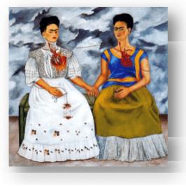 © F. Kahlo, Las dos Fridas, 1939