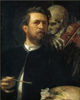 © A. Böcklin, Self Portrait with Death as a Fiddler, 1872