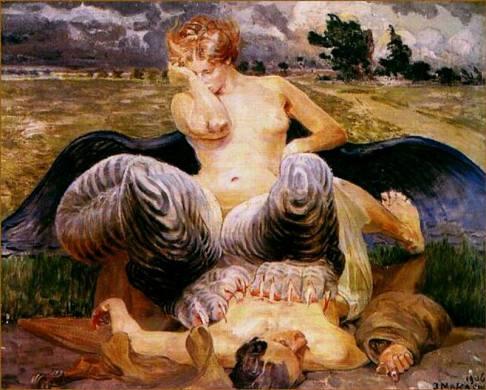 Jacek Malczewski, L'artista e la Chimera, 1906