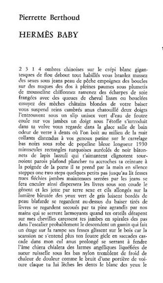 L'Hermès-Berthoud ░░ MARISA AINO