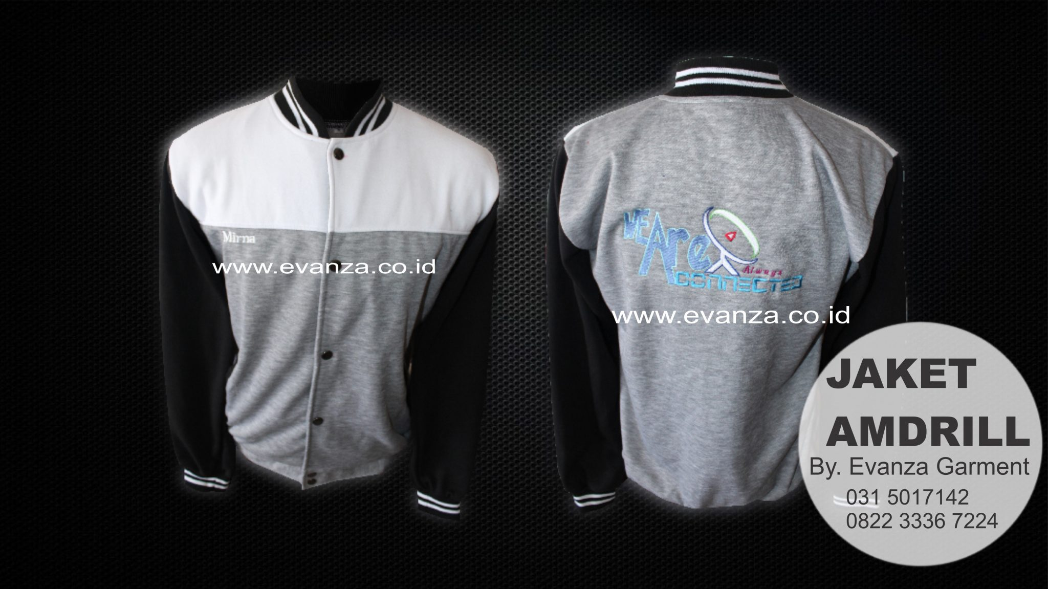 Contoh Desain Konveksi Jaket Varity Fleece We Are Connection