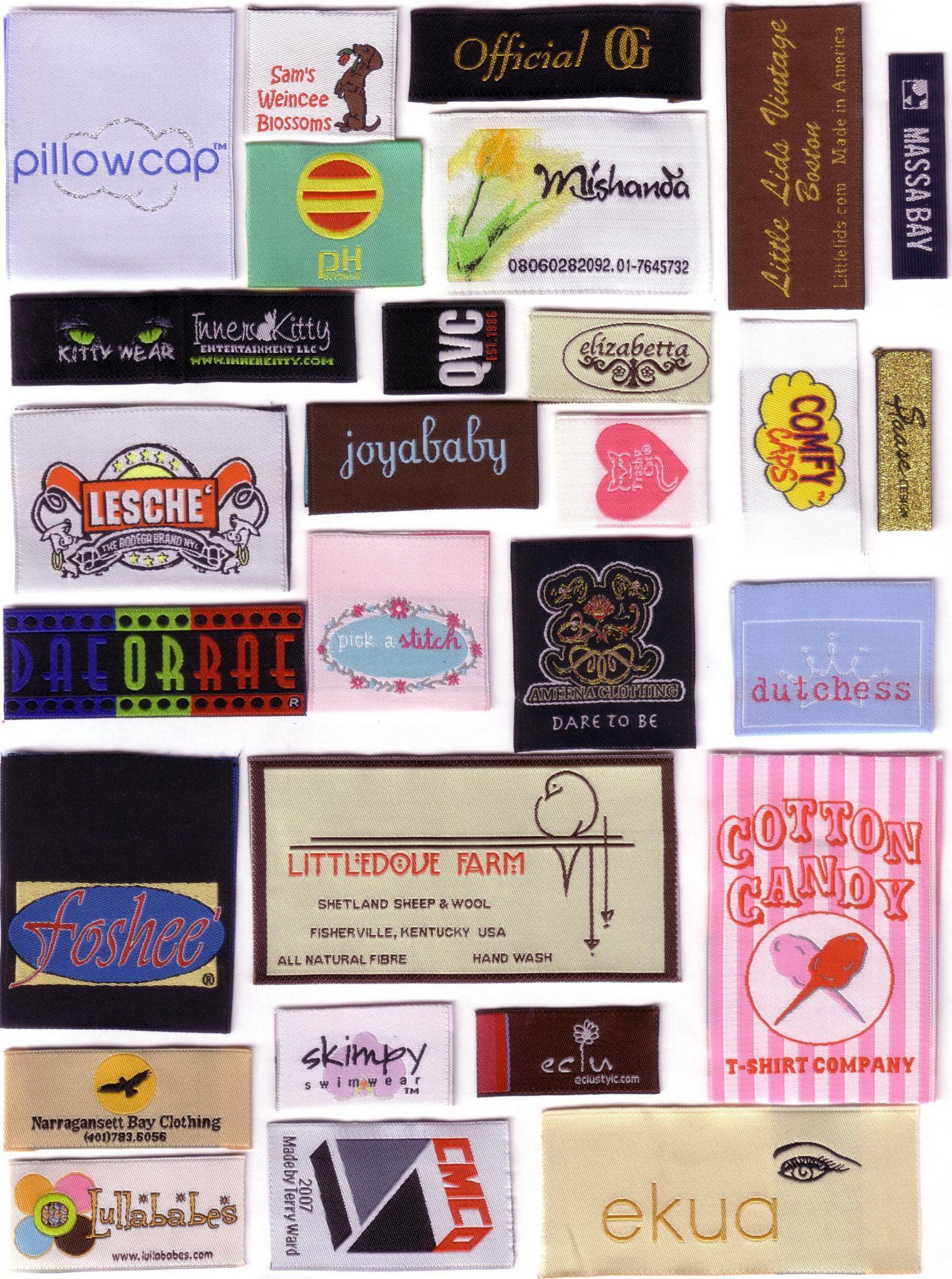Label-label baju yang terkenal di Konveksi