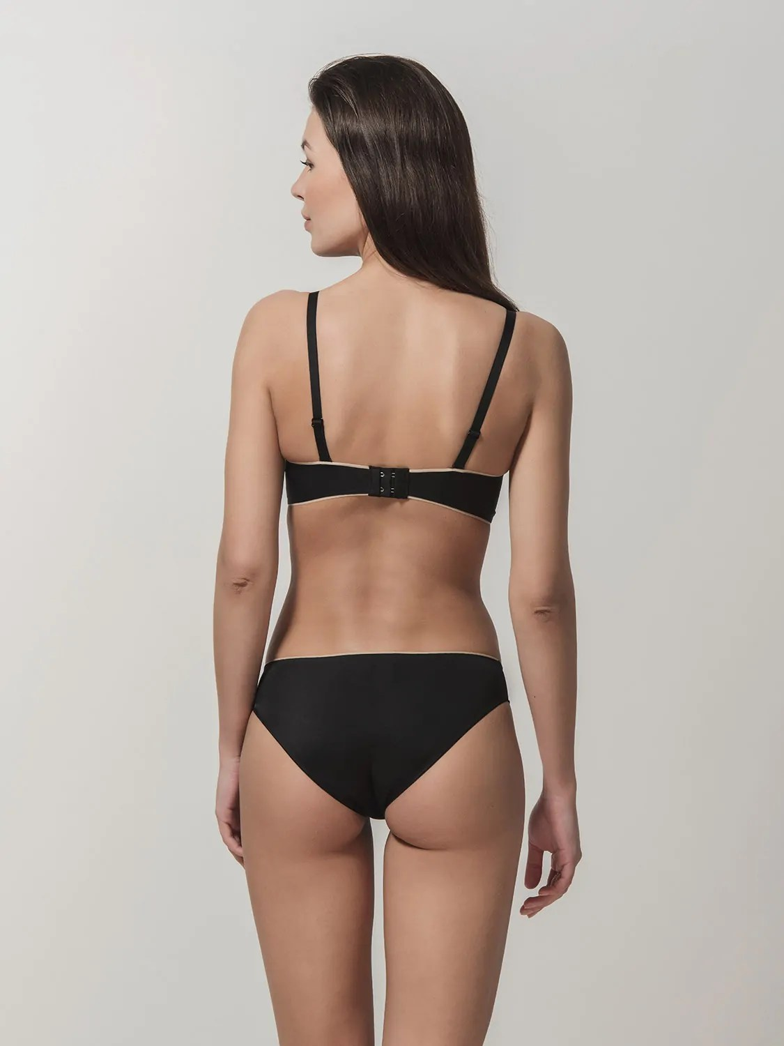Miracle One 1809 wireless push-up & 2808 brief black back