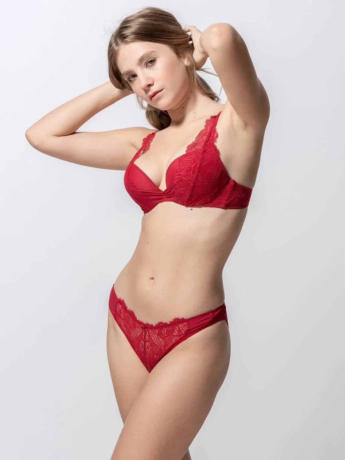 Orchidea 14090 super push-up & 24090 brazilian brief red side