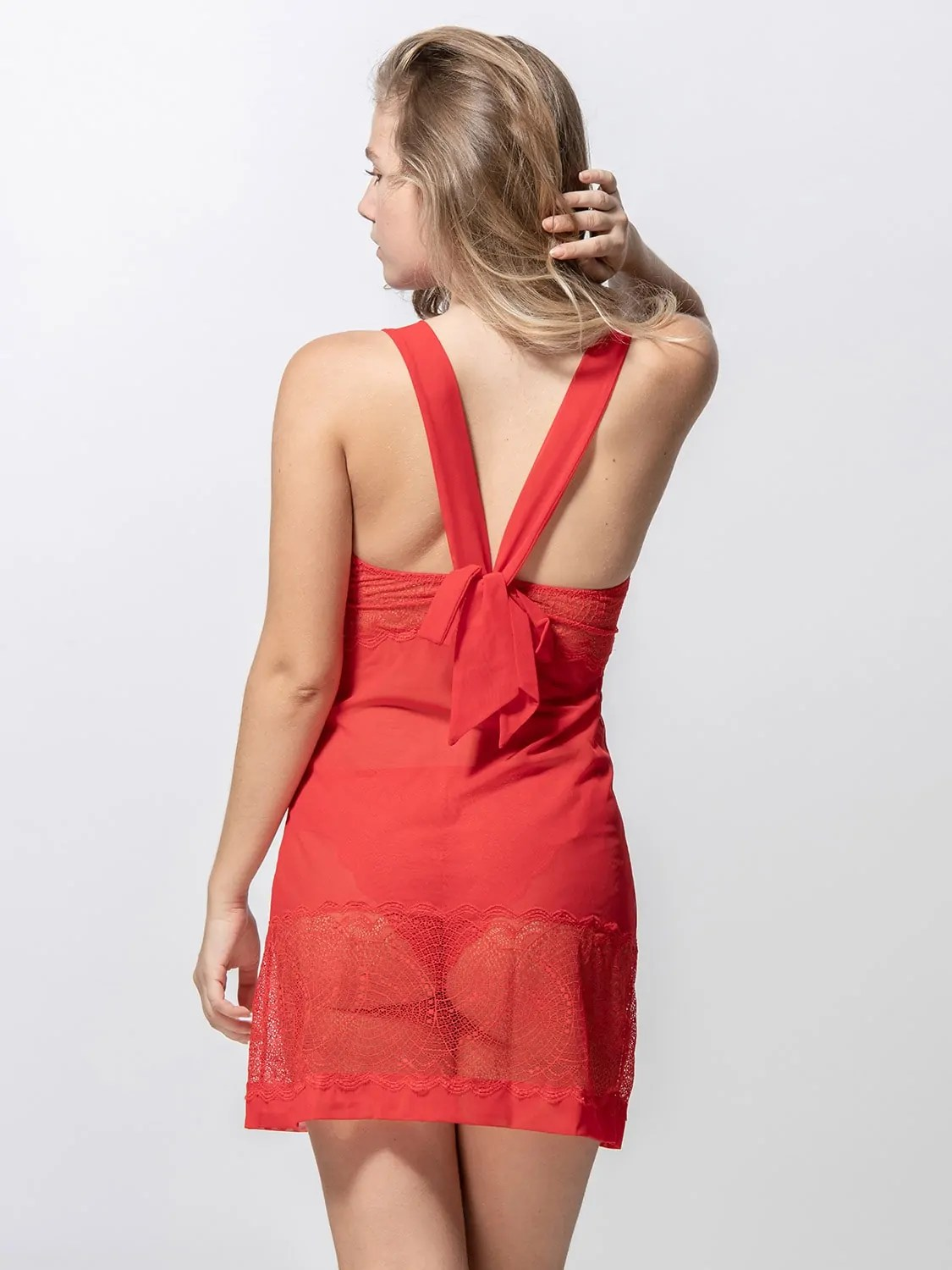 Passion 85004 babydoll red back