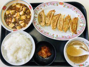 餃子の王将 中華定食 麻婆豆腐セット