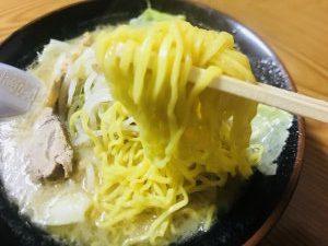 古潭 野菜味噌チャーシュー 麺リフト